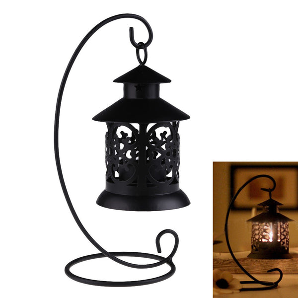 White or Black Iron Candle Holder - life after yes