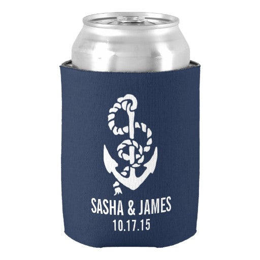 Personalized Anchor Koozie - life after yes