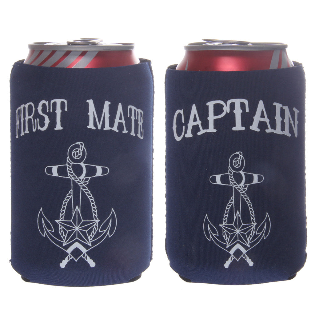 Set of First Mate & Captain Koozies - life after yes