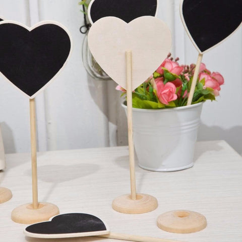 Mini Chalkboard Heart Table Number (5 Pieces) - life after yes
