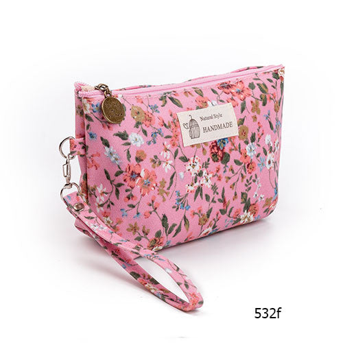 Floral Cosmetic Bag - life after yes