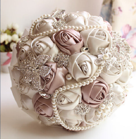 Brooch and Pearl Bridal Bouquet - life after yes