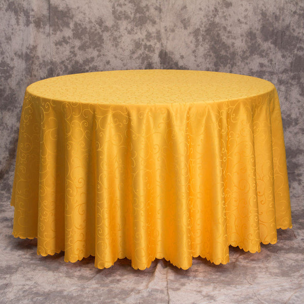Round Wedding Tablecloth - life after yes