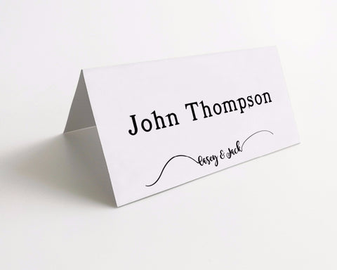 Simple Design Personalized Name Place Cards - life after yes