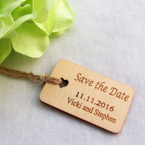 "Engraved ""Save The Date"" Tag (Set of 65) - life after yes"