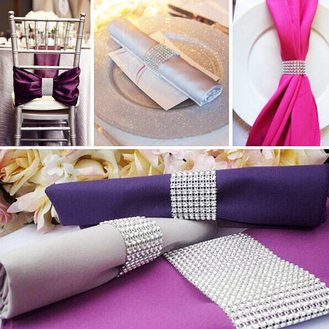 10 Piece Lot Diamond Wrap Napkin Ring