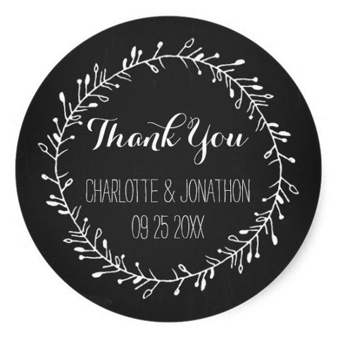 Custom Thank You Sticker - life after yes