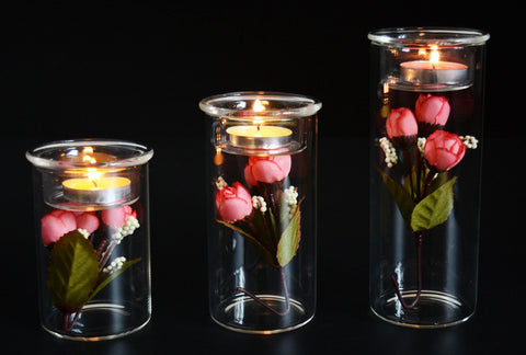 Glass Cylinder Centerpiece - life after yes