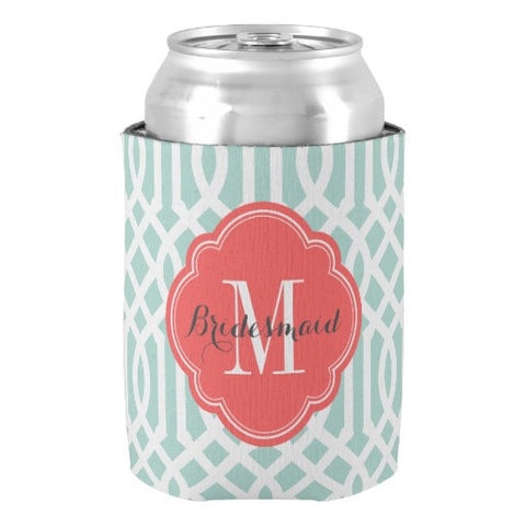 Bridesmaid Initial Koozie - life after yes