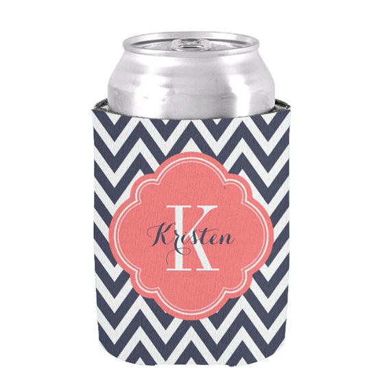 Monogram Initial & Name Koozie - life after yes
