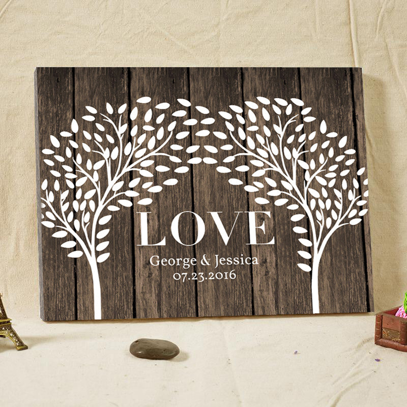 Personalized LOVE Tree Guestbook Alternative