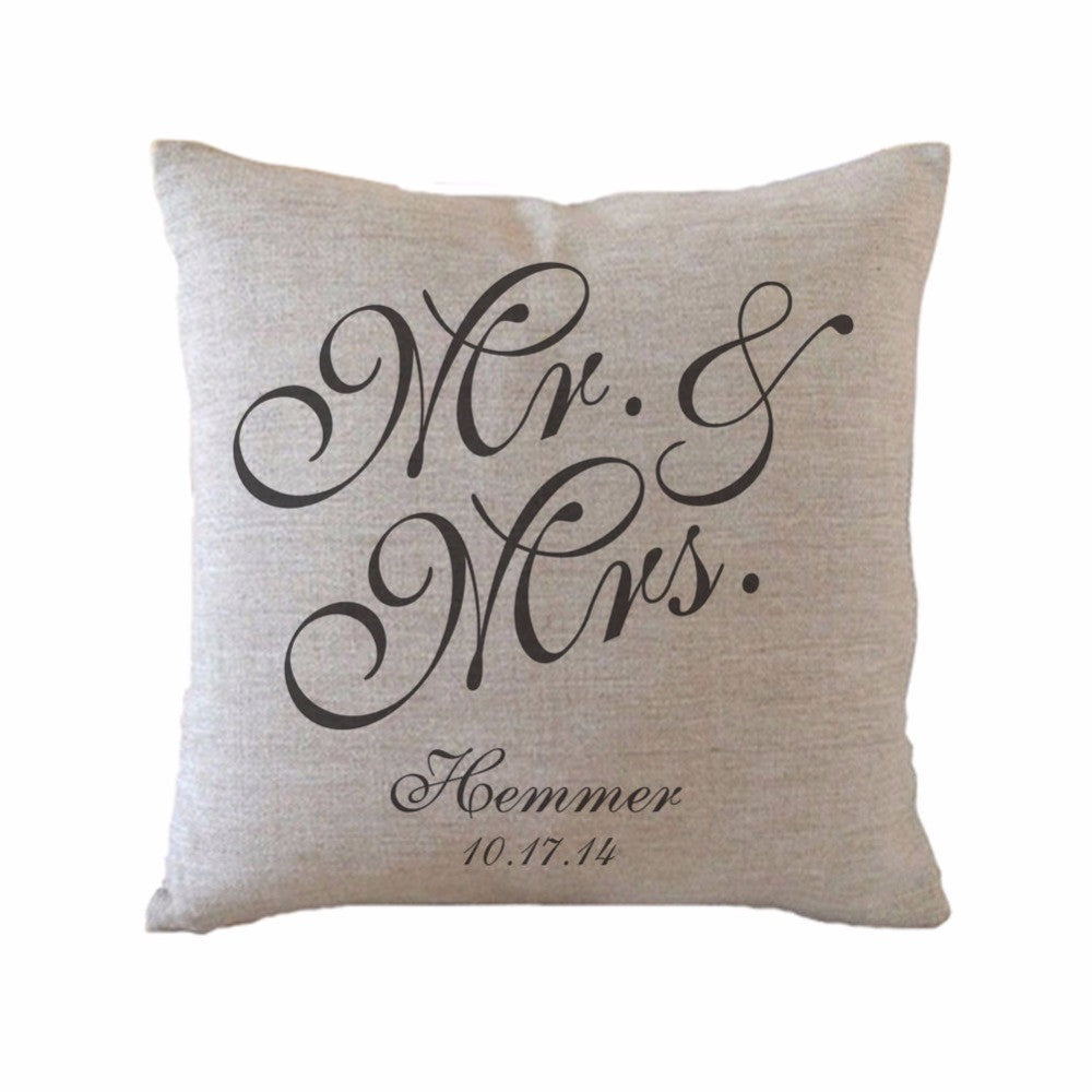 Mr & Mrs Throw Pillow - life after yes