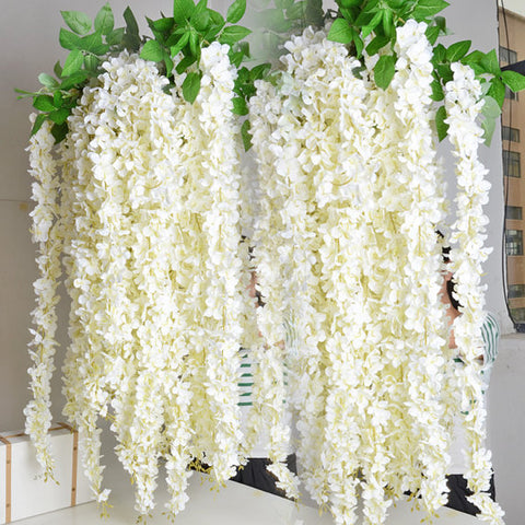 White Wisteria Hanging Garland (5 Piece Set) - life after yes