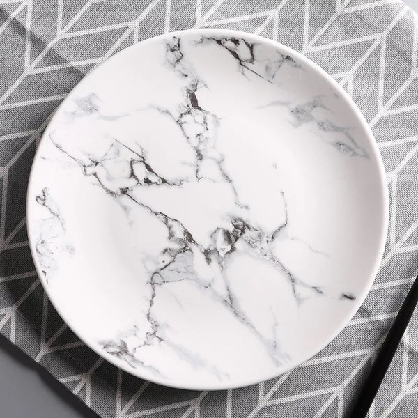 Marble Porcelain Plate Collection