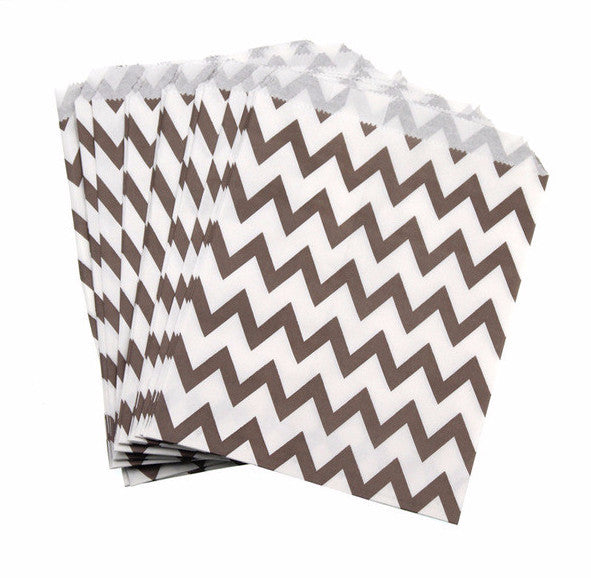 Chevron Print Treat Bags - life after yes