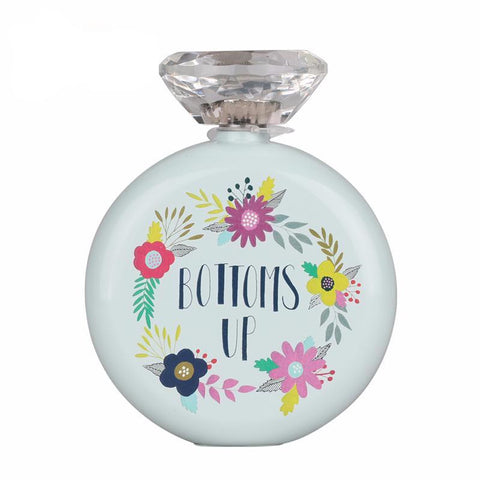 Bottoms Up Floral 5 oz. Flask - life after yes