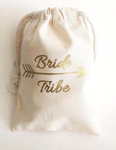 Bride Tribe Drawstring Bags (Set of 12) - life after yes