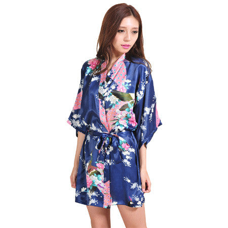 Silk Floral Bridesmaid Robe