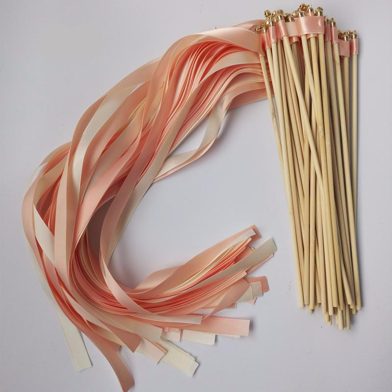 Champagne Ribbon Wands (50 pieces)