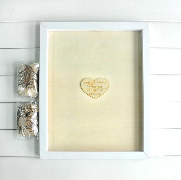 Custom Drop Heart Guestbook Alternative - life after yes
