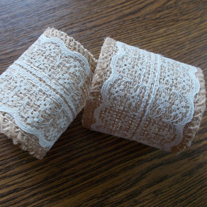 Burlap and Lace Napkin Rings (Set of 50) - life after yes
