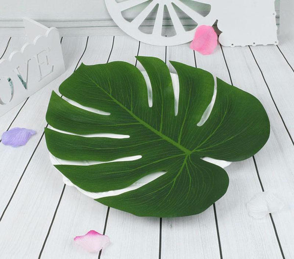 Artificial Tropical Palm Leaves (Set of 12)