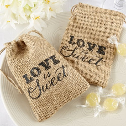 """Love Is Sweet"" Burlap Bags (Set of 50) - life after yes"