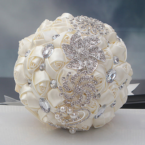 Elegant Crystal Brooch Bouquet - life after yes