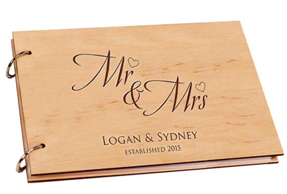 Custom Wooden Binder Guestbook