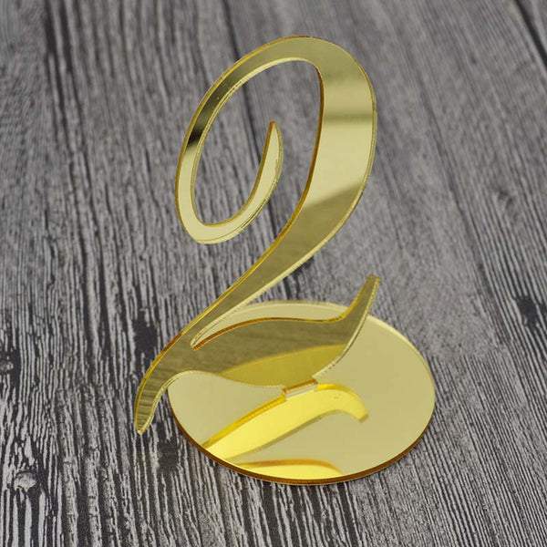 Gold Acrylic Table Numbers (Set of 10)