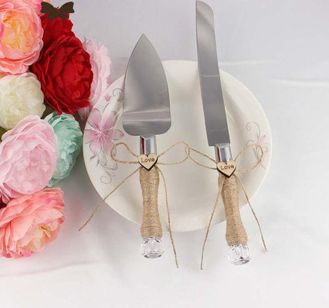Rustic Cake Server Set - life after yes