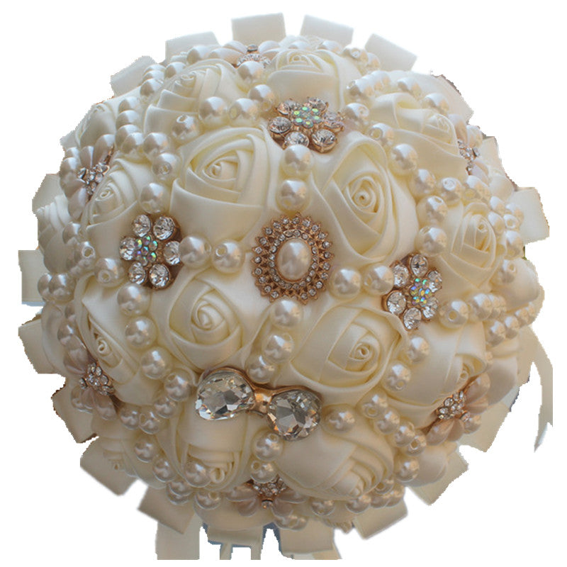 Ivory Brooch and Pearl Bouquet