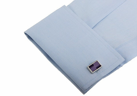 Purple Rectangular Cufflinks - life after yes