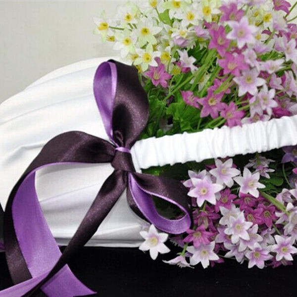 Purple Bow Flower Girl Basket - life after yes