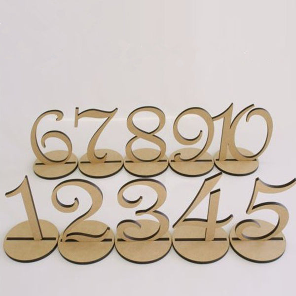 Table Numbers 10 piece set - life after yes