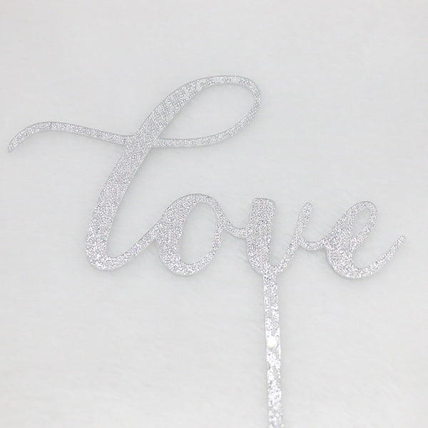 "Wooden ""Love"" Cake Topper - life after yes"