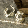 Stunning Chunky Cornish Seawater Cast Silver Hoops