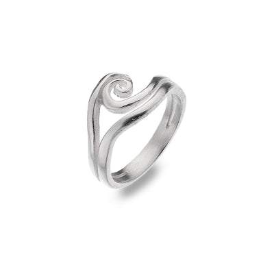 Double Wave Silver Ring