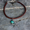 Leather Bracelet with Starfish Charm