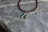 Boho Leather Bracelet with Bead and Turtle Charm