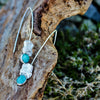 Dramatic Silver Cast Coral And Turquoise Drop Earrings