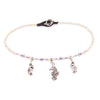 Surfer Style Amerthyst Beaded Anklet with Seahorse Charm