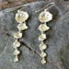 Dramatic Cornish Seawater Cast Silver Long Drop Earrings