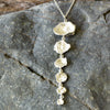 Stunning Cornish Seawater Cast Drop Silver Necklace