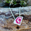 Silver and Red Sea Pottery Pendant