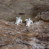 Silver Turtle stud Earrings