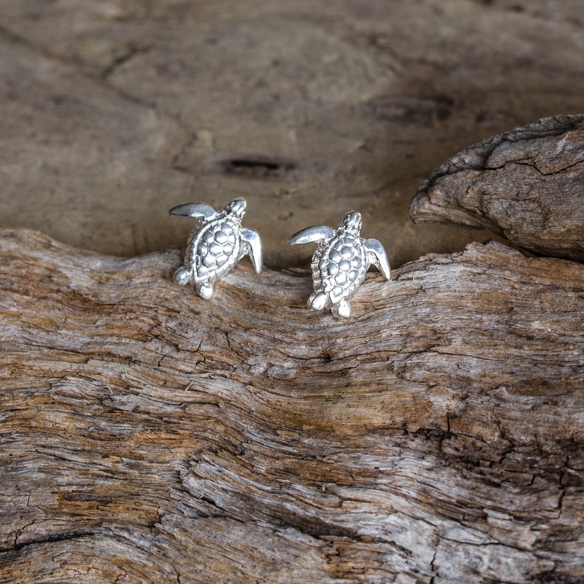 karen uk stud from textured image turtle silver earrings jewellery design earring
