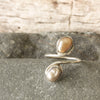 Silver and Freshwater Pearl Adjustable Ring