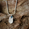 Silver Cast Shell and Topaz Stone Pendant