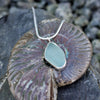 Silver and Pale Green Seaglass Pendant
